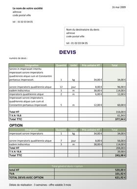 Id E Exemple De Devis Nettoyage Facade