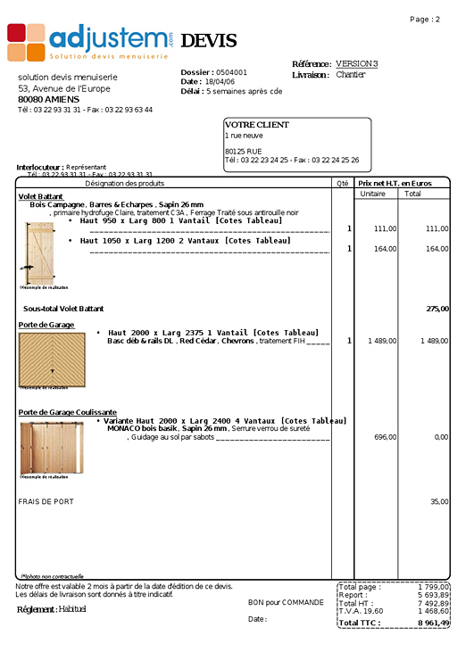 Visuel exemple de devis standard - Exemple de devis construction ...