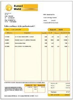Photo exemple de devis et facture gratuit for Modele facture garage automobile excel