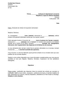 modele de lettre de pension alimentaire exemple de devis alimentaire modele de lettre de pension alimentaire