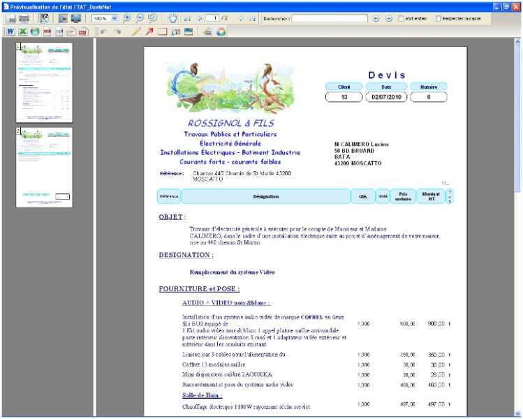 Afficher exemple de devis d un hotel - Duree de validite d un devis ...